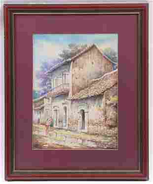 Raymundo Mendieta Quiroga, Watercolor