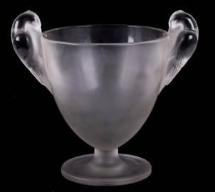 """R. Lalique """"Ornis"""" Art Glass Vase"""