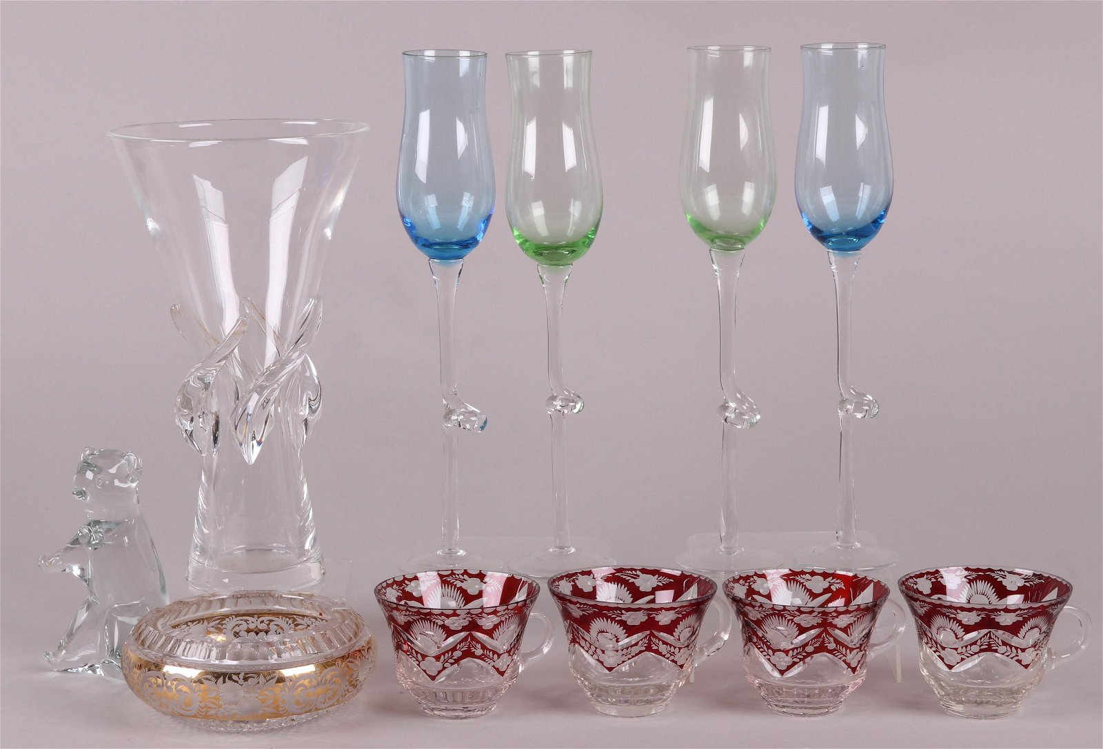 A Group of Estate Glass Including Steuben