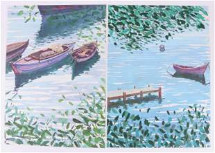 Two Lithographs Riverboats