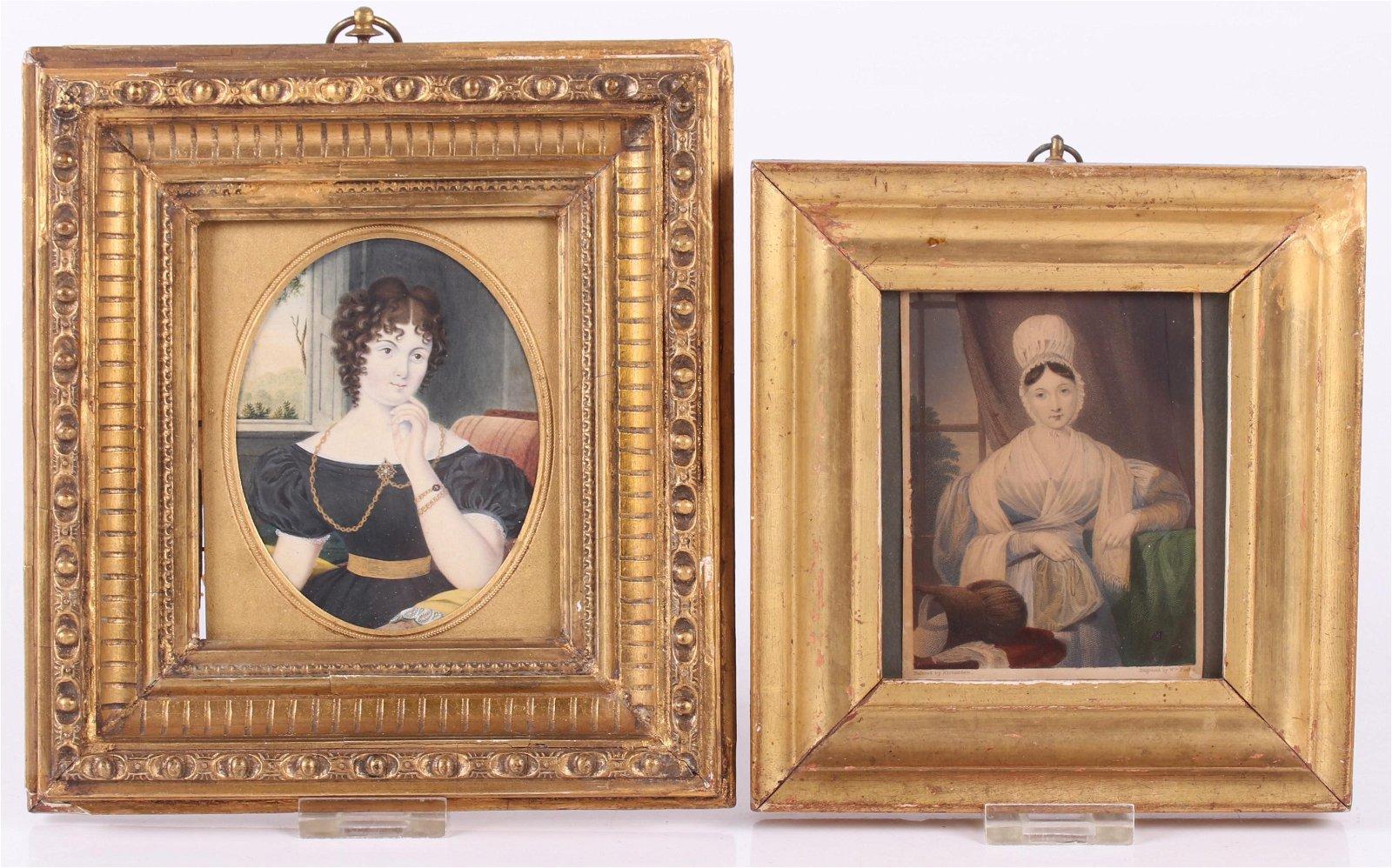 Two 19th Century Portrait Miniatures