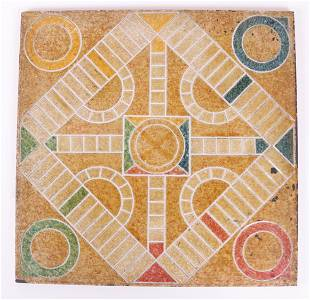 A 19th Century Slate Parcheesi Board