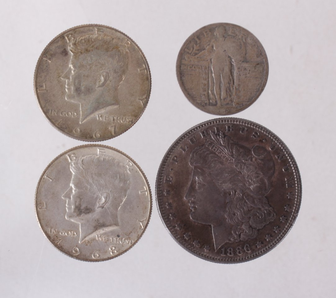 Four US Silver Coins