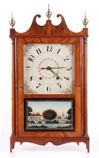 A Pillar and Scroll Clock, Chauncey Ives
