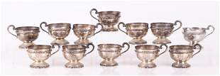 A Set of Mexican Sterling Cups