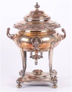 An Old Sheffield Plate Hot Water Urn