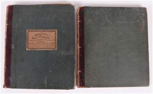 Book, Knight's Scroll and Vase Ornaments, Two Vols.