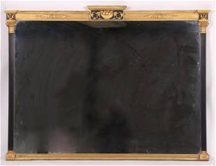 A Parcel Gilt Neoclassical Style Mirror