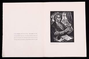 Bernard Brussel Smith 1914 1989 Wood Engraving