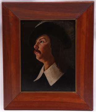 French School 18th Century Oil on Panel
