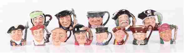 Thirteen small Royal Doulton character mugs