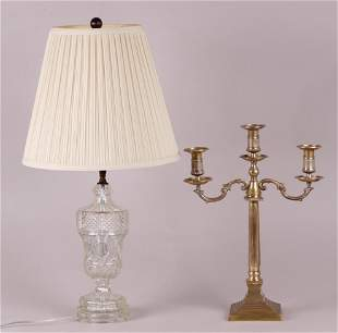 Two Pieces Candelabrum Lamp