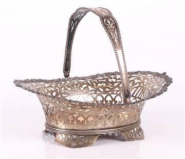 A Sterling Silver Basket, J.E. Caldwell