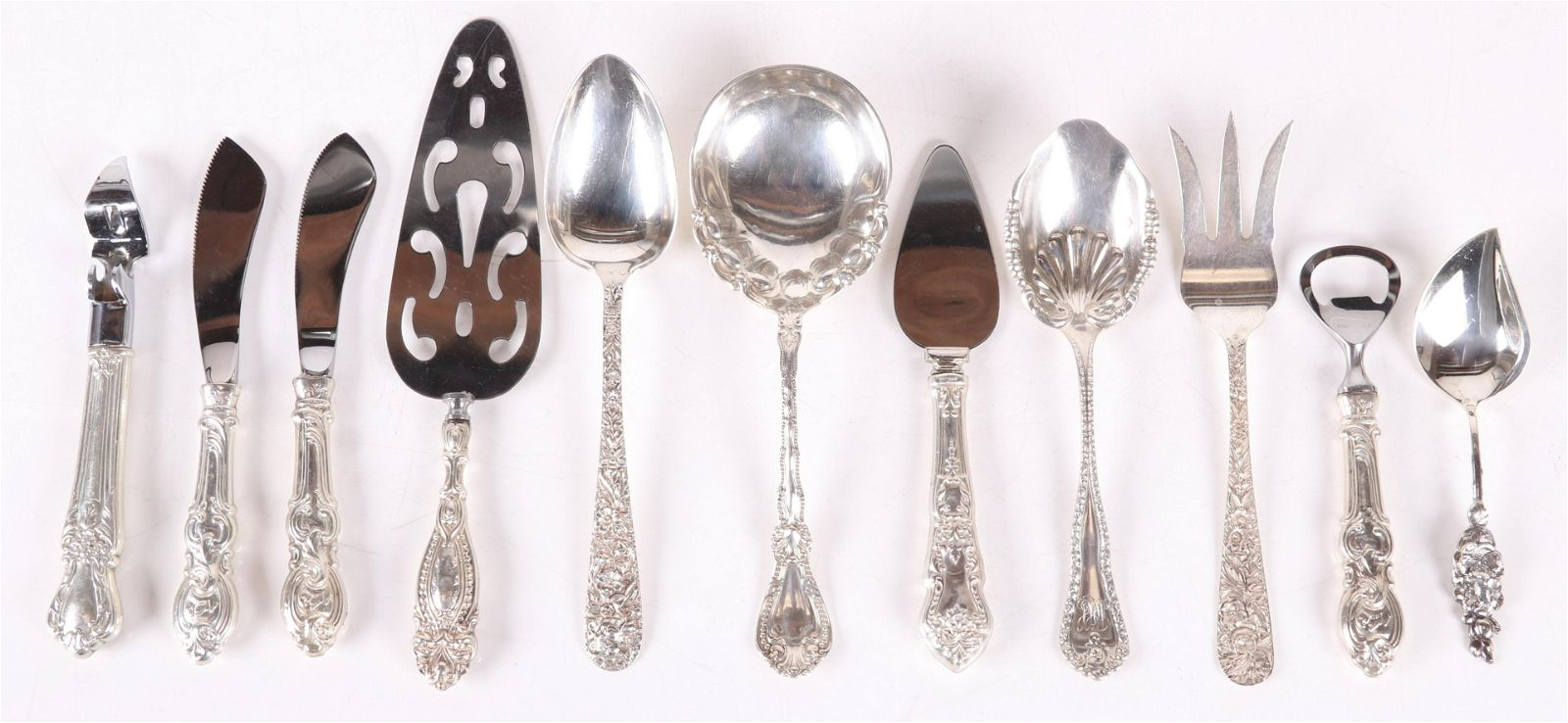 A Group of Sterling Silver Serving Pieces