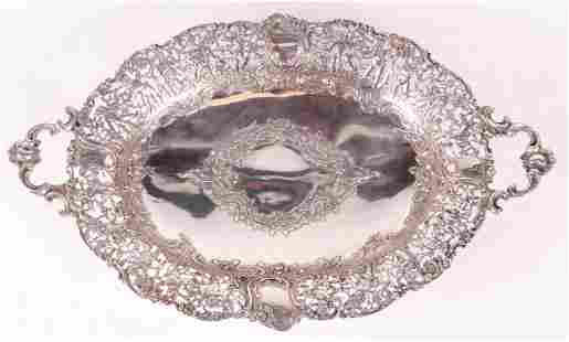 A Large German .800 Silver Serving Tray