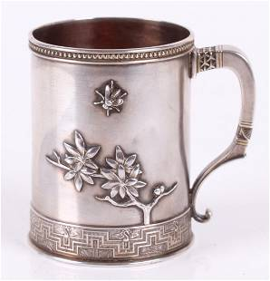 A 19th Century Tiffany and Co. Sterling Mug