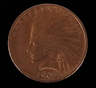 1907 Gold ten Dollar Coin