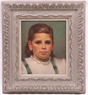 Portrait of a Child Signed Charles Bentz