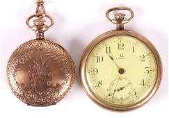 Two Pocket Watches, One Omega