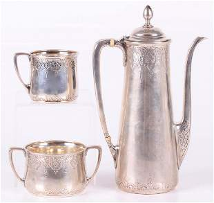 A Tiffany and Co. Demitasse Sterling Tea Set