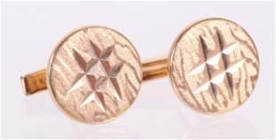 A Pair of 18k Gold Cufflinks