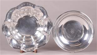 Two Sterling Silver Centerpiece Bowls