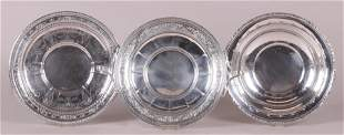 Three Neoclassical Style Sterling Servers
