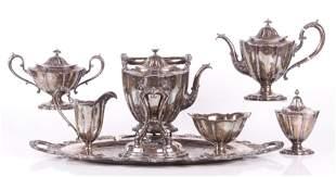 A Sterling Six Piece Tea Set J.E. Caldwell