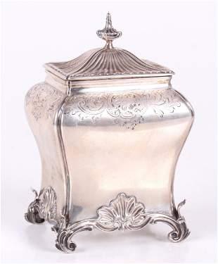 A George III Sterling Tea Caddy