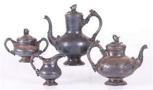 Wilhelm Ludwig for Ott Heydendahl Sterling Tea Set