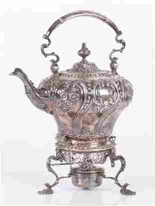 An English Sterling Kettle on Stand