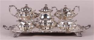 A Sterling Tea Set By Durgin