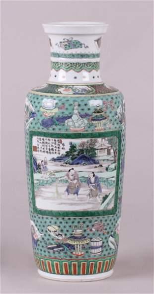 A Fine Chinese Famille Verte Porcelain Vase