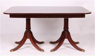 A Double Pedestal Mahogany Dining Table