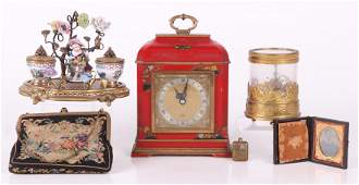 Estate Lot, Elliot Clock, Inkwell, Etc...