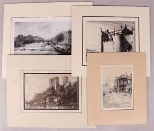Four Etchings Including Lucien Gautier