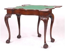 A NY Chippendale Serpentine Card Table