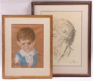 Ray Prohaska 1901 1981 Two Portraits