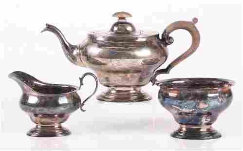 Three Piece Sterling Tea Set , Scottish
