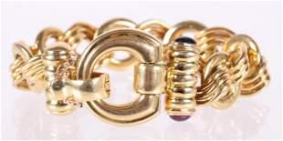 An Italian 18k Gold Bracelet , Elledue