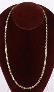 A 14k Gold Chain Necklace