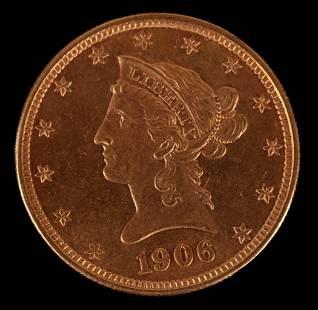 A 1906 Ten Dollar Gold Coin