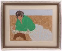 March Avery (Born 1932) Watercolor