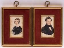 American School, Two Portrait Miniatures