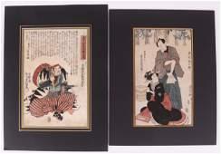 Utagawa Kunisada, Two Woodblock Prints