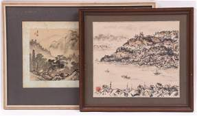 Two Chinese Paintings 20th Century