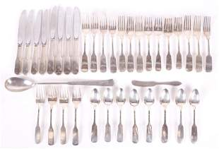 A Partial Sterling Silver Flatware Service