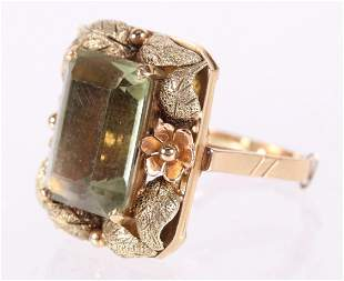 A 18k Gold and Citrine Cocktail Ring