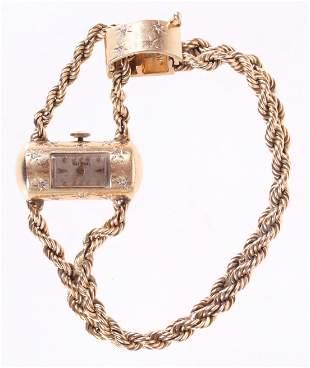 A Vintage Ladies National 14k Gold Watch