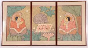 Carol Jablonsky (American, 1939-1992) Triptych